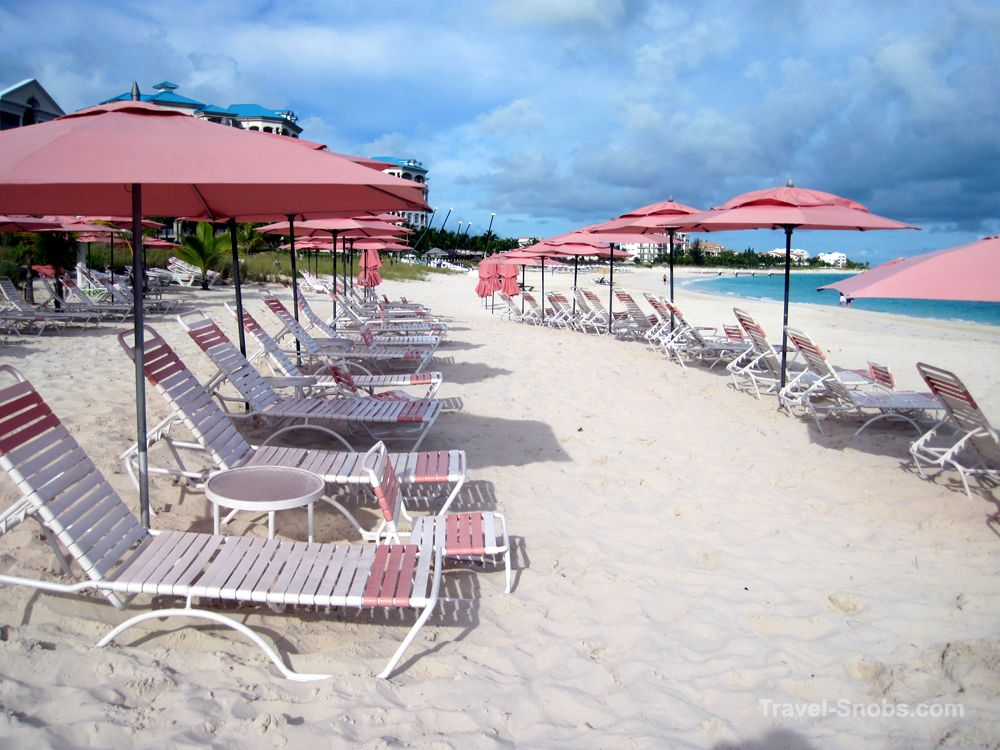 Ocean Club West beach loungers, Grace Bay, Providenciales