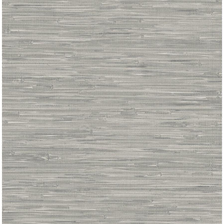 Nuwallpaper Gray Vinyl Grasscloth Wallpaper Lowes Com Grasscloth Wallpaper Nuwallpaper Peel And Stick Wallpaper