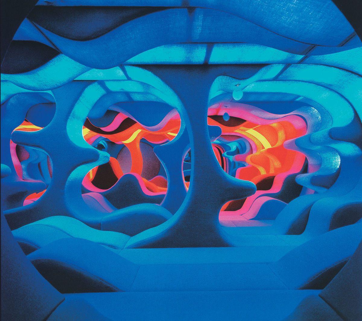 Verner panton interior design -  Architecture In Germany Exhibition By Verner Panton