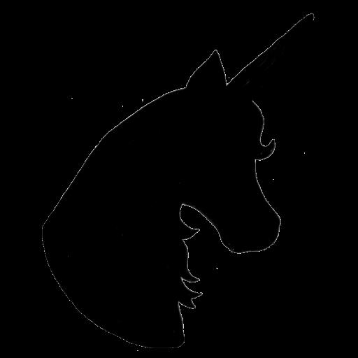E2b45118b4b0a6a8fcf1f038fed0e34f Png 512 512 Unicorn Head Unicorn Silhouette