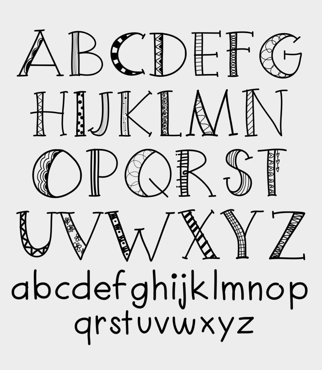 Free Downloadable Font Hand lettering alphabet, Doodle