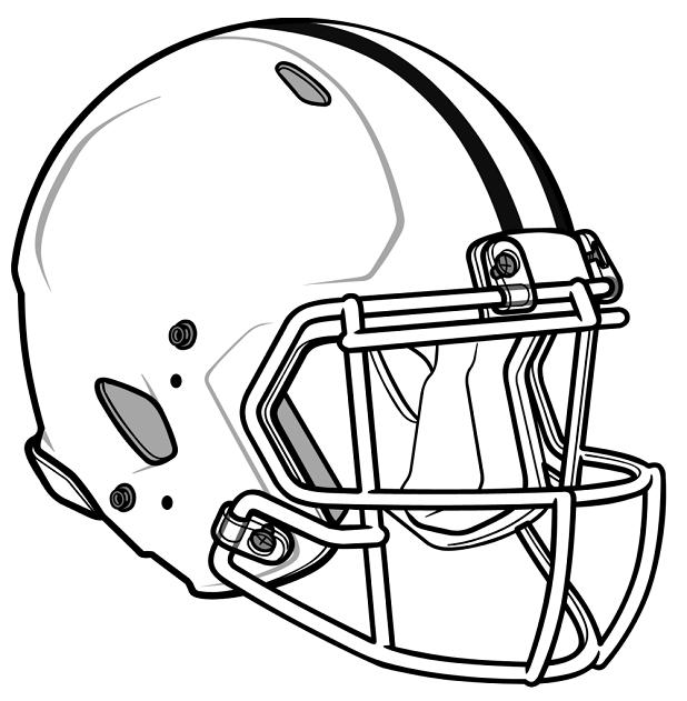Coloring Pages Football Helmet | work nfl | Pinterest