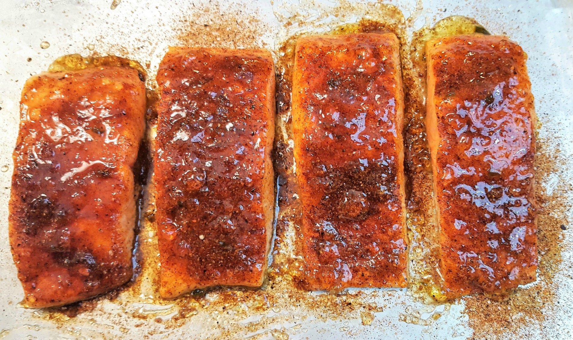 Pepper Jelly Glazed Salmon