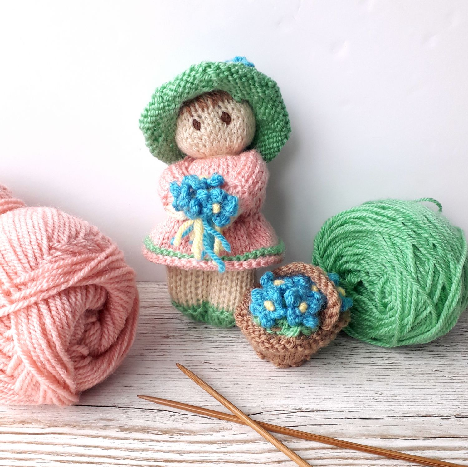 Flower Garden Bitsy Baby Doll pattern by Claire Fairall