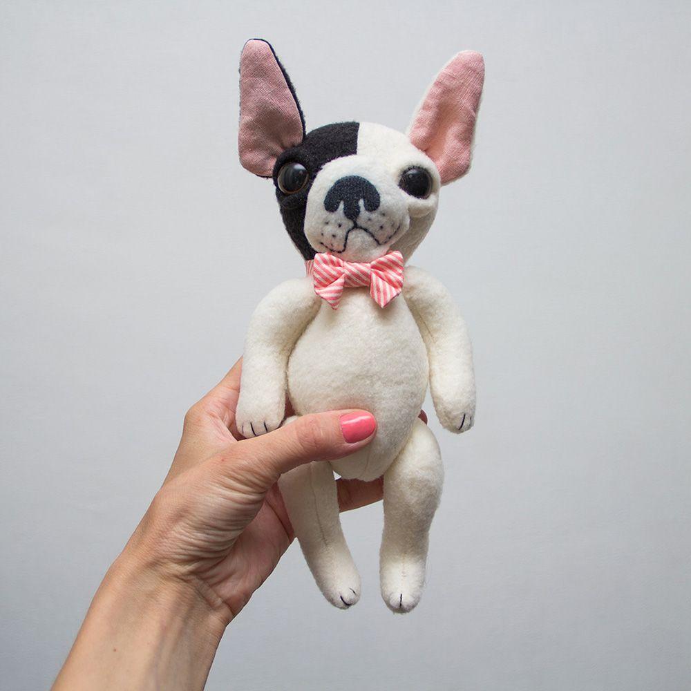 French Bulldog Soft Toy By Www Meddle Us Frenchie Frenchbulldog