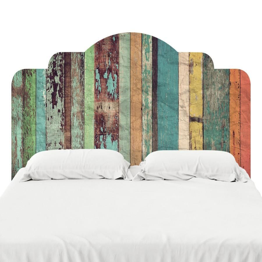Designed to look like the real deal, these adhesive headboard decals ...