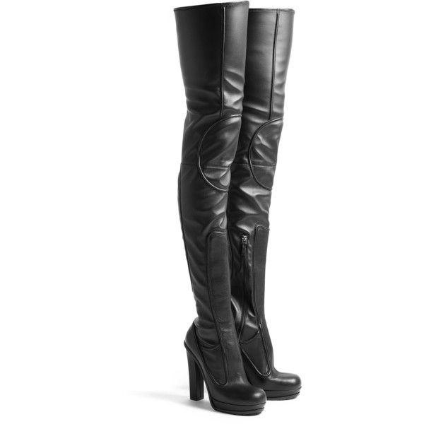 Versus by Versace Pull On Thigh High Leather Platform Boots (2.045 ...