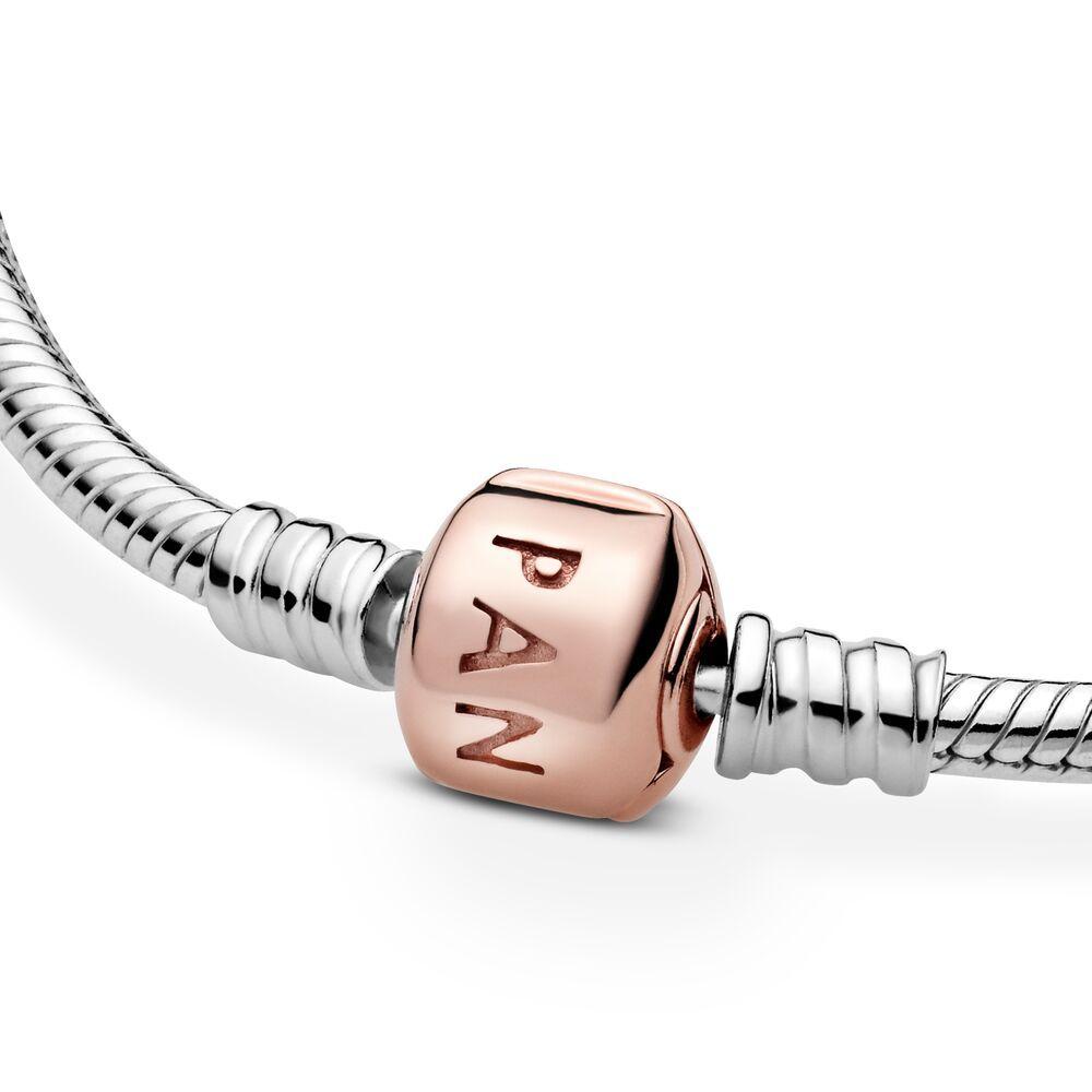 bracciale pandora argento rosa