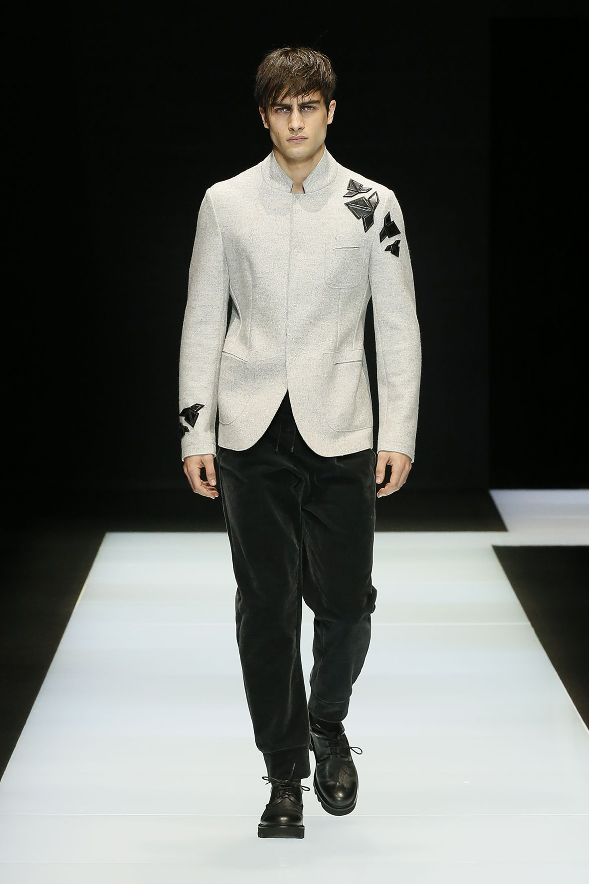 Look from the Emporio Armani Men's Fall Winter 2016 / 2017 ...