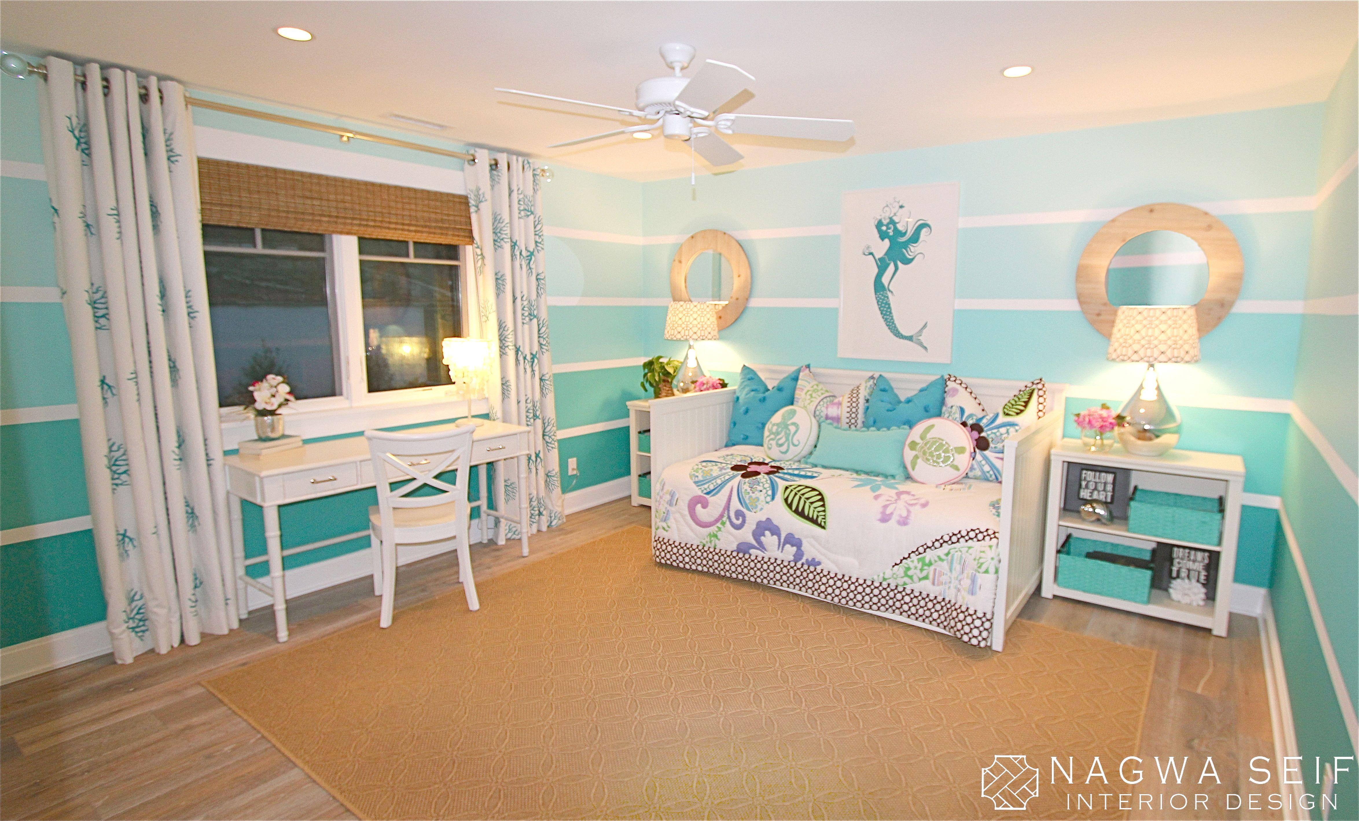 Einrichtung Schlafzimmer Interior Design Bedroom Türkis: NSID: Mermaid Bedroom (Top View Bedroom)