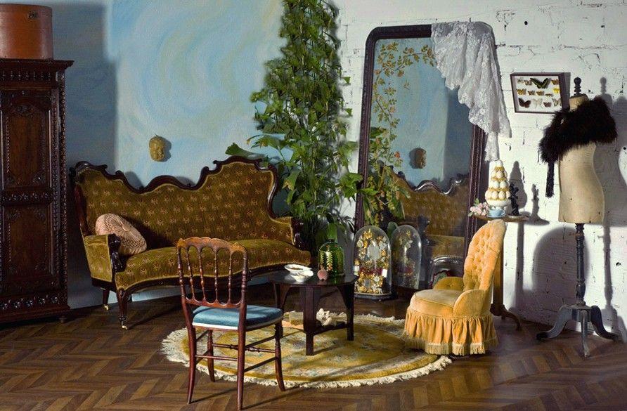 d coration retro style baroque id es d co r tro meubles. Black Bedroom Furniture Sets. Home Design Ideas