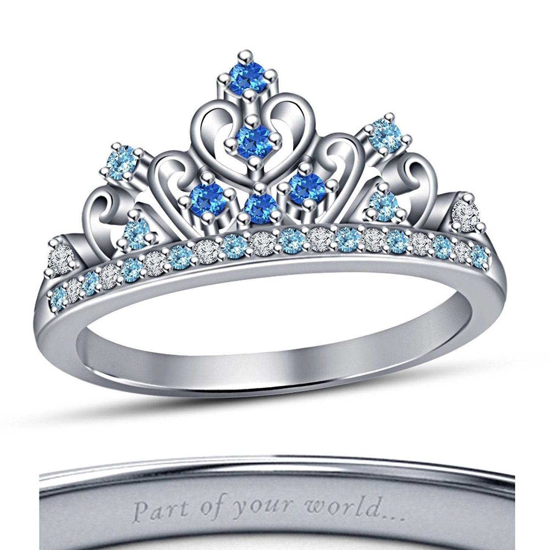 Vorra Fashion 925 Silver Disney Cinderella Princess Round Multi