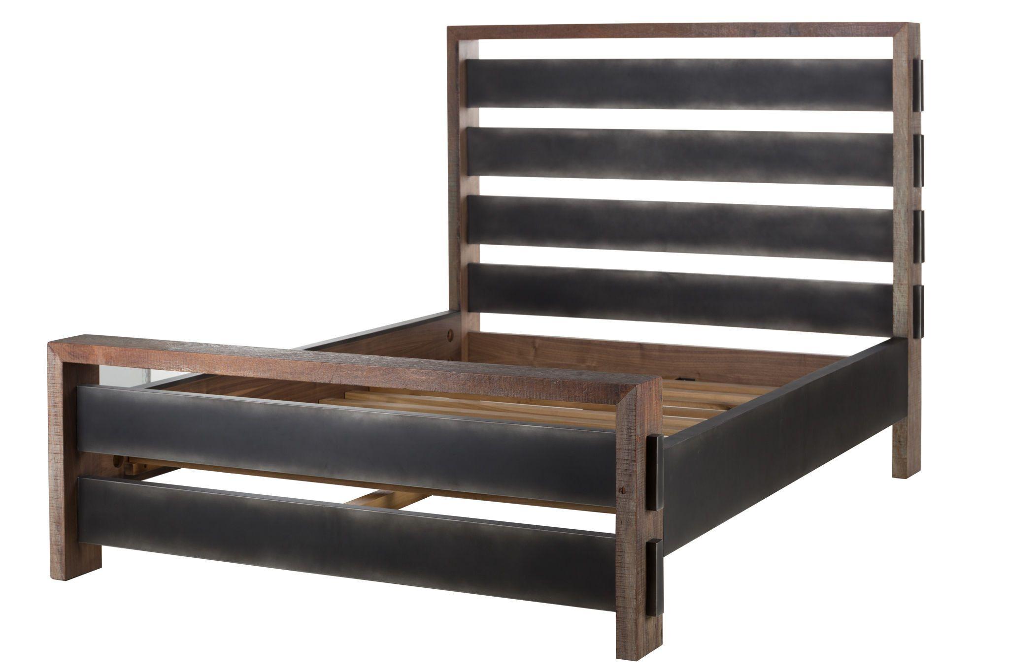 Sean Bed Queen size platform bed, Furniture, King size