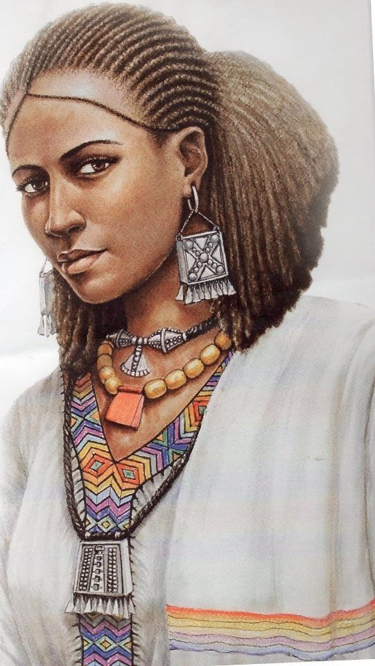 Oromo Woman Ethiopia Art Adis Gebru Httpswwwpinterest - Ethiopian new hairstyle