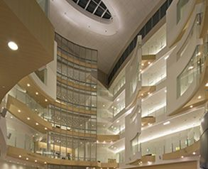 Nemours Alfred I Dupont Hospital For Children Provides A Welcoming Glow Hospital Architecture Nemours Atrium Design