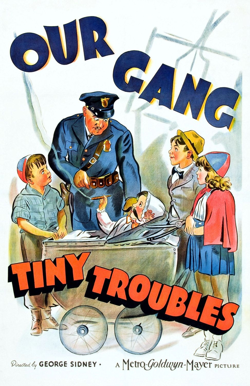 Our Gang Tiny Trouble Alfalfa Spanky Darla by PaperTimeMachine