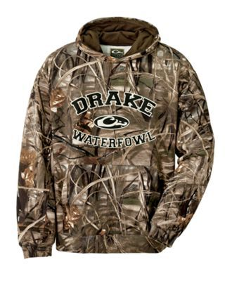 Drake Waterfowl Embroidered Camo Hoodie For Men With Images
