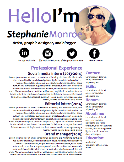 Social Media Resume Sample Hepteam Social Media Savvy Cover Letter And Resumeperfect For
