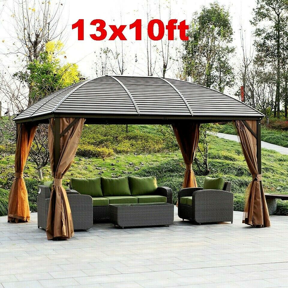 Xl Outdoor Gazebo Diy Heavy Duty Kit Outdoor Patio Pavilion Curved Hardtop Metal Unbranded Modern Diy Gazebo Gazebo Patio Tents