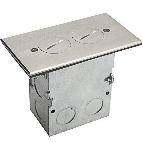 Enerlites Screw Cap Cover Floor Box Kit 5 X 2 87 1 Gang 20a Tamper Weather Resistant Duplex Receptacle Outlet Wa In 2020 Floor Boxes Weather Resistant Receptacles
