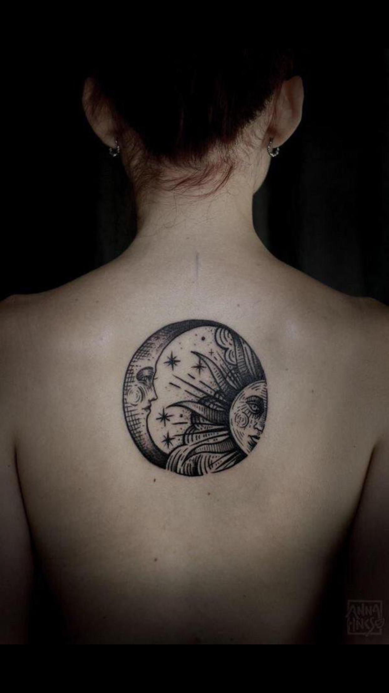 Pin by Brittany Kovach on Tattoo ideas   Moon tattoo