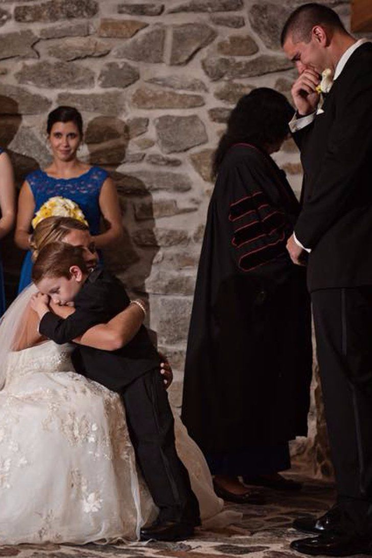 Wedding guests lost it over this brideus vows to her new stepson and