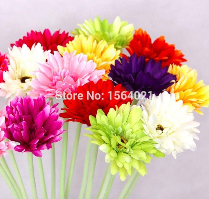 Aliexpress Com Buy Fabric Gerbera Flower 1pc African Chrysanthemum Flower Wedding Flower Artificial F Artificial Flowers Decorated Flower Pots Gerbera Flower