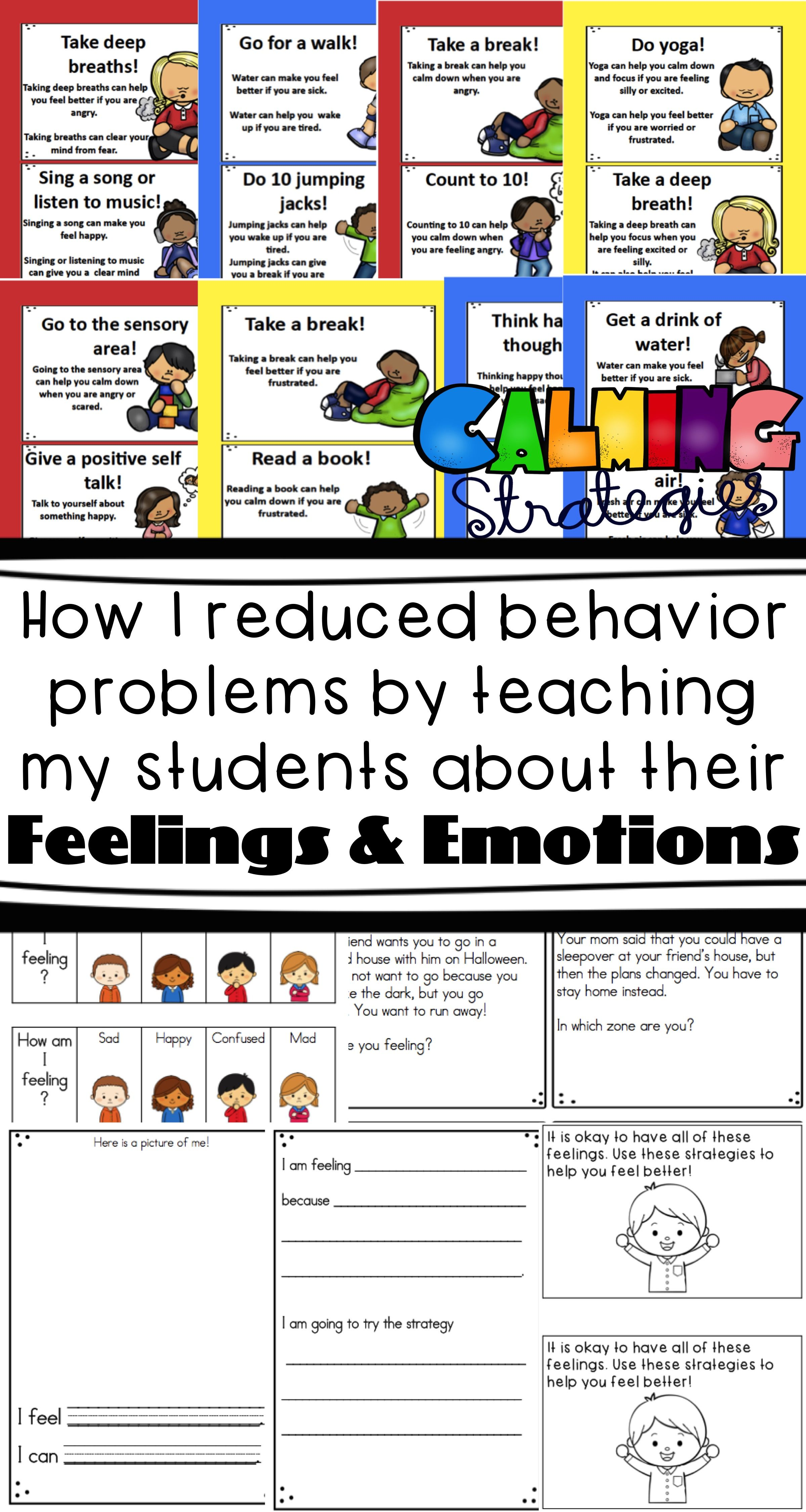 Emotions And Self Regulation Strategy Resources