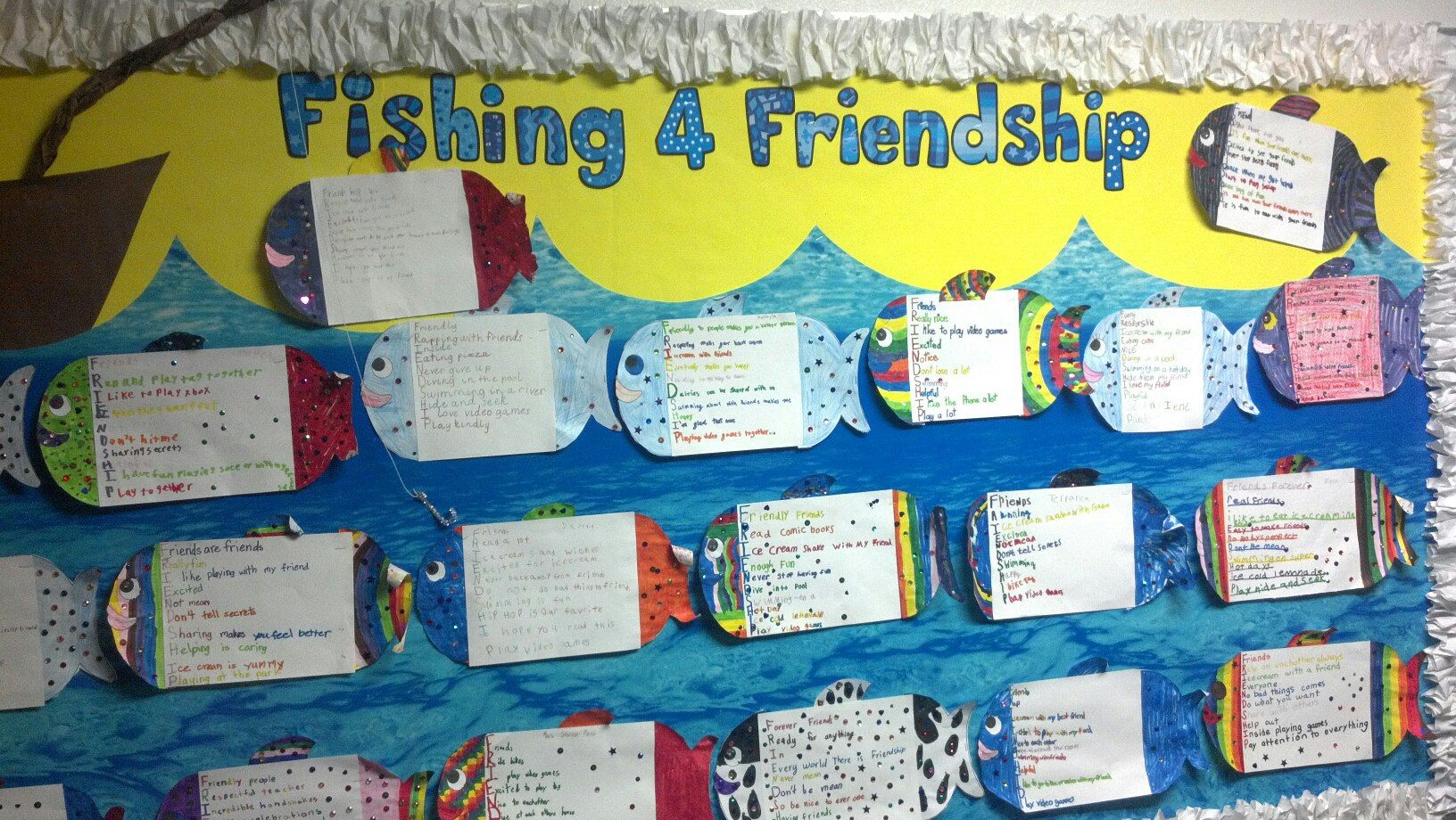 For A Beginning Of The Year Activity We Read Rainbow Fish Had A Class Discussion About What It