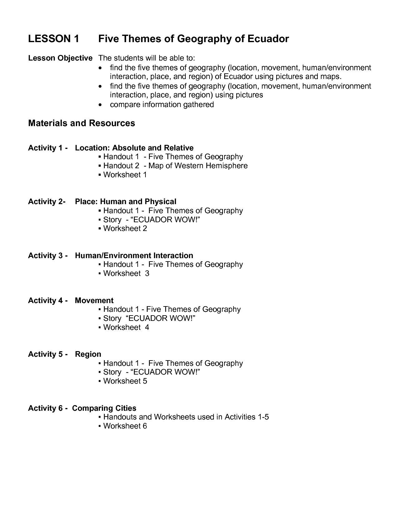 hight resolution of Elements Of Geography Worksheets   Printable Worksheets and Activities for  Teachers
