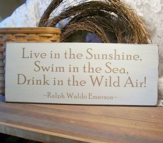 Live in the Sunshine Wood Sign Beach by CountryWorkshop on Etsy, $29.00