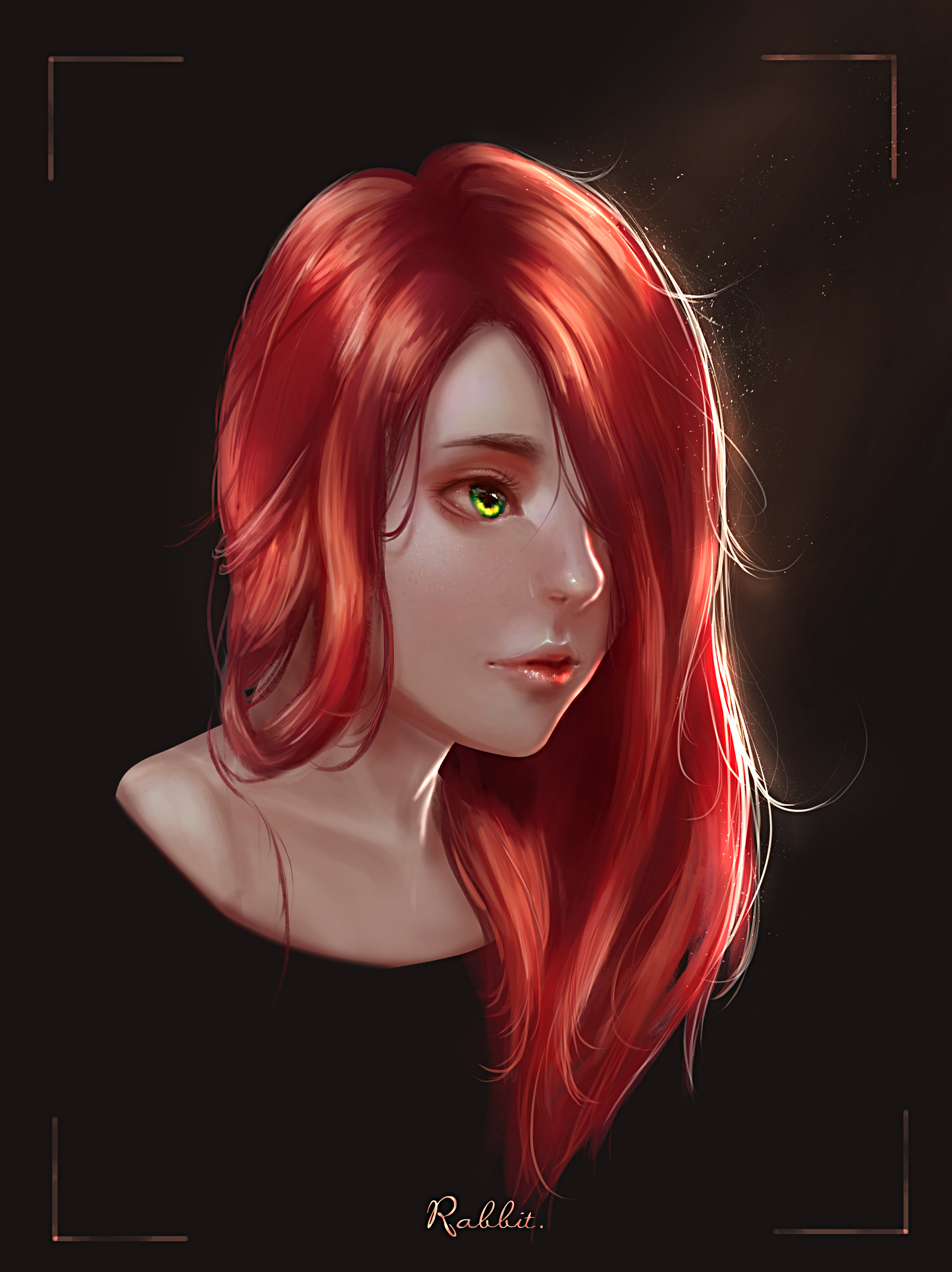Red by b1tterRabbit Digital art girl, Art girl, Red hair