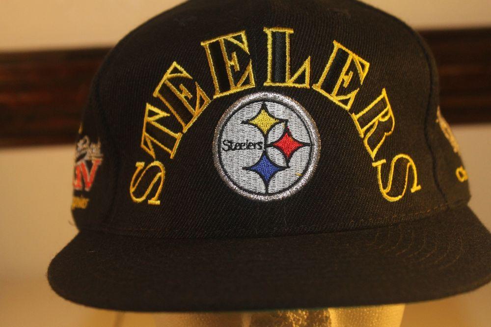 b0b2153e Vintage Pittsburgh Steelers Hat NFL Super Bowl Champions Logo Sewn ...