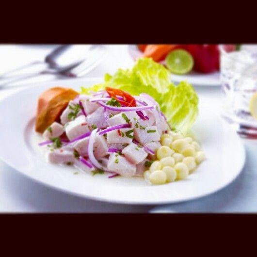 Menu Dona Lola Ceviche Peruano De Tiburon Receta De Ceviche Ceviche De Pescado Ceviche