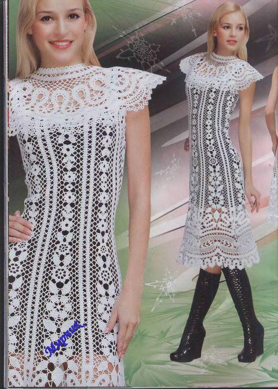 Tejer Crochet irlandés Brujas patrones vestidos por DupletMagazines ...