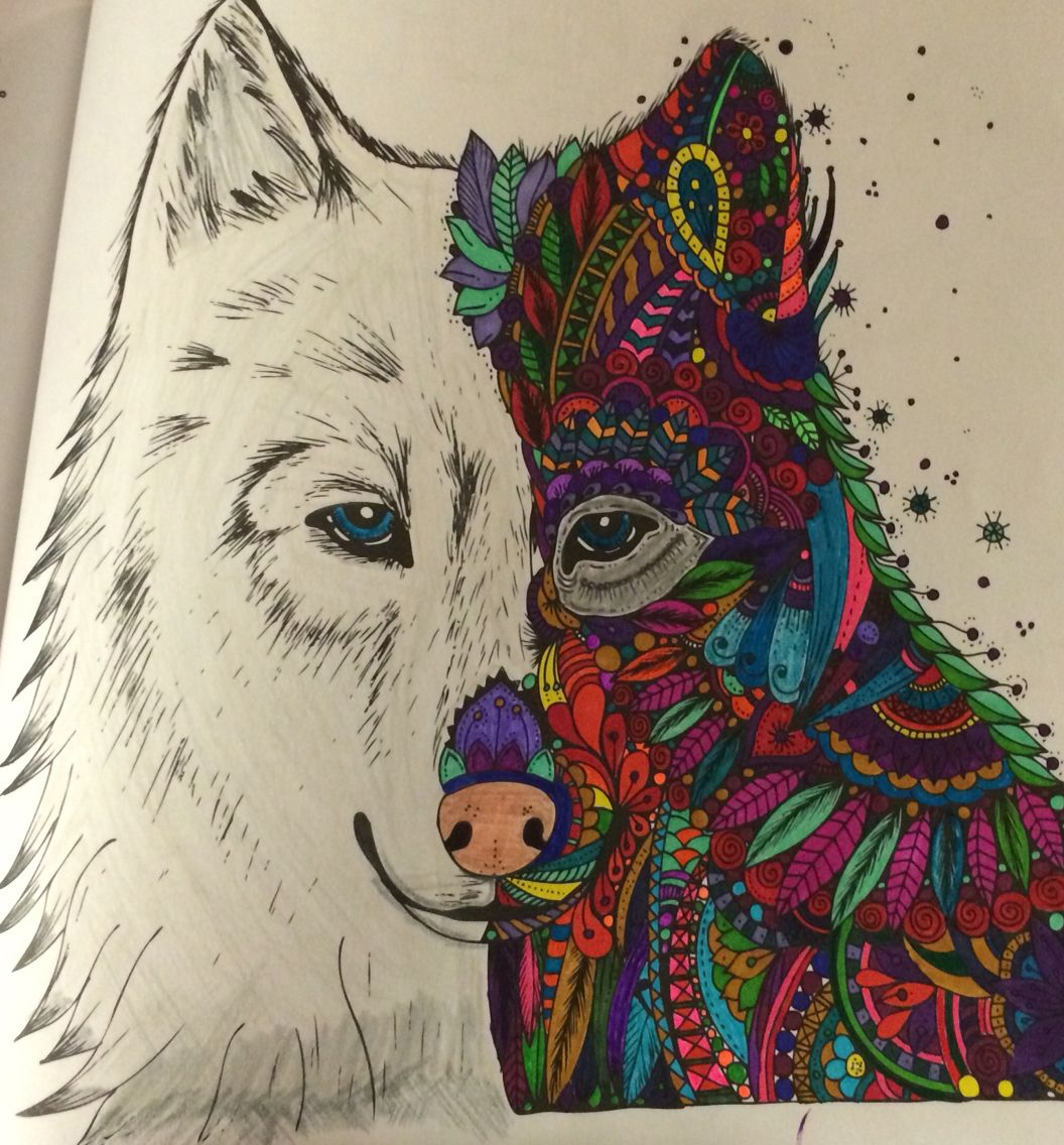 Wolf Picture From Coloring Book The Magic Path Coloring Books Colorful Art Art