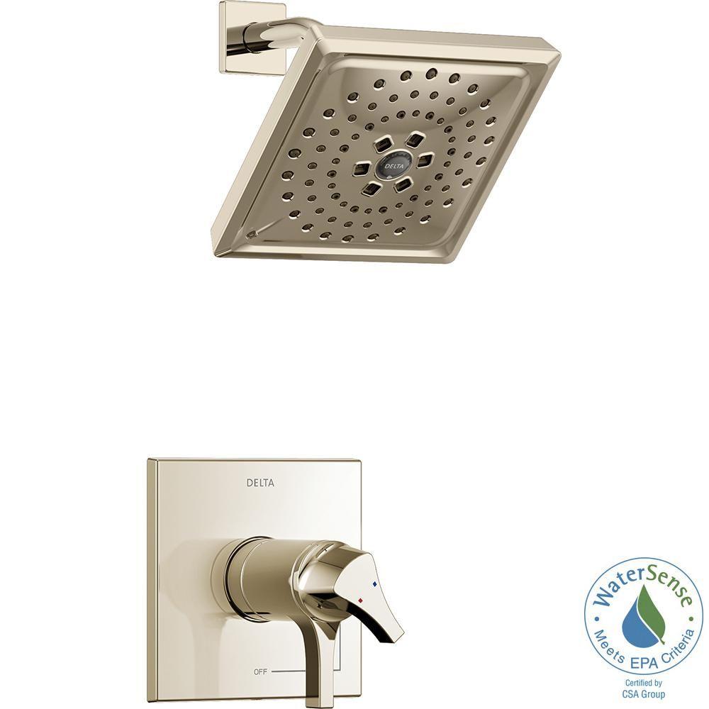 delta zura tempassure 1 handle shower faucet trim kit with