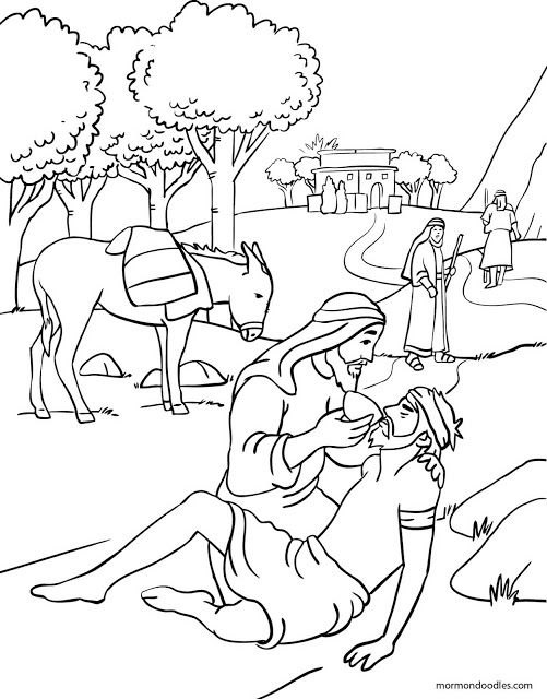 mormon doodles the good samaritan coloring page - The Good Samaritan Coloring Pages