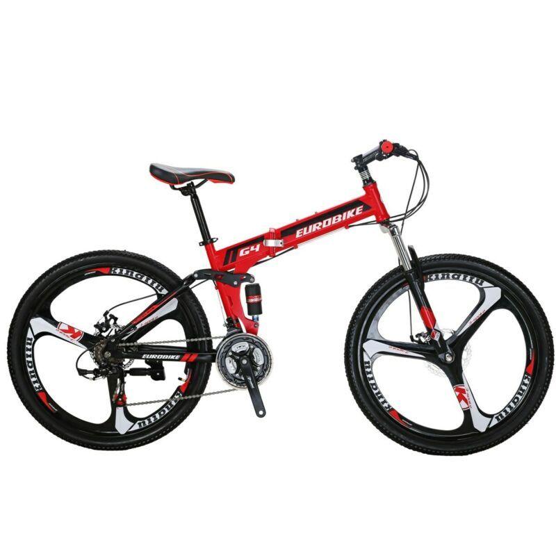 """Folding Bike Mountain Bike 26/"""" 21 Speed Full Suspension Bicycle MTB Bikes 2020"""
