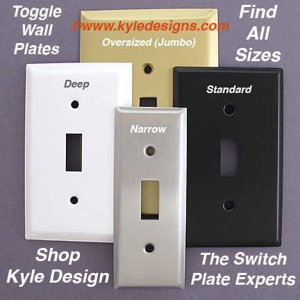 1 5 Narrow Toggle Switch Plate Covers Decorating Ideas