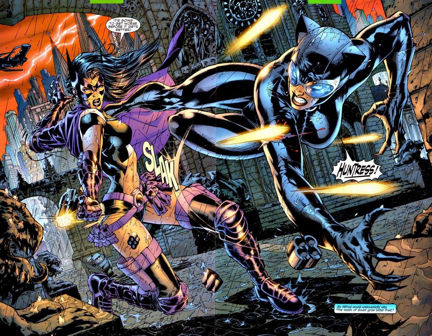Huntress Wallpaper Batman Hush Huntress Batman And Catwoman