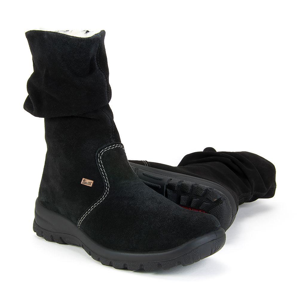 Botki Rieker Z7171 01 Czarny Plaski Obcas Boots Ugg Boots Uggs