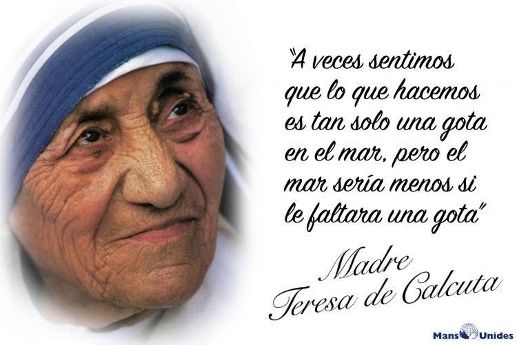 Frase De Reflexión De Madre Teresa De Calcuta Frases De La