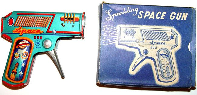 tin toys are always cool. Tin space lasers more so.