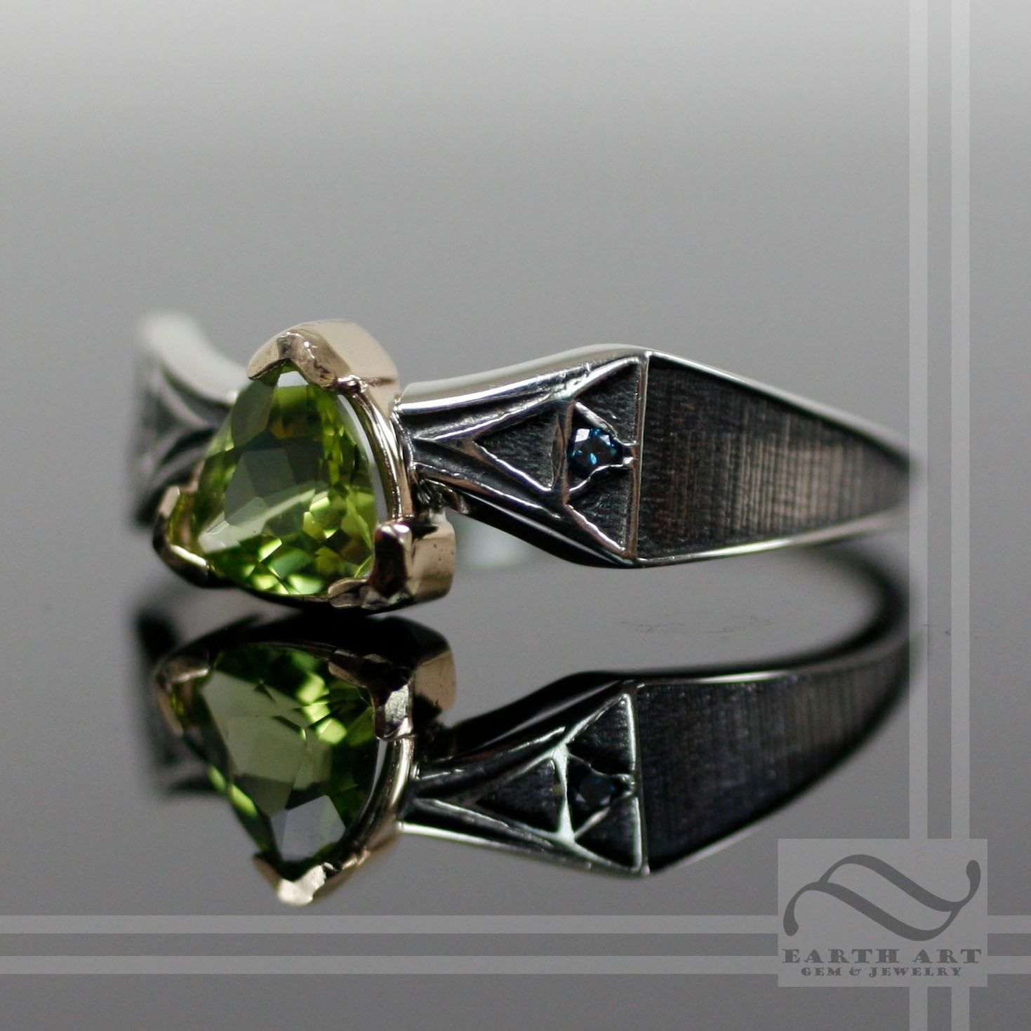 Zelda Triforce Ring in sterling and Gold 35000 via Etsy When