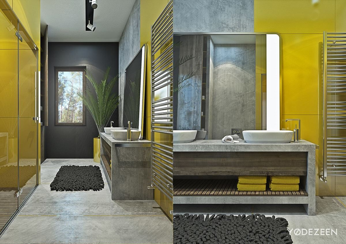 yellow bathroom walls yellow bathroom decor apartment design