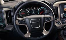 Picture Showing Luxurious Heated Steering Wheel In The 2017 Gmc Sierra 1500 Denali Light Duty Pickup Truck Gmc Sierra 1500 2017 Gmc Sierra 1500 Gmc Sierra