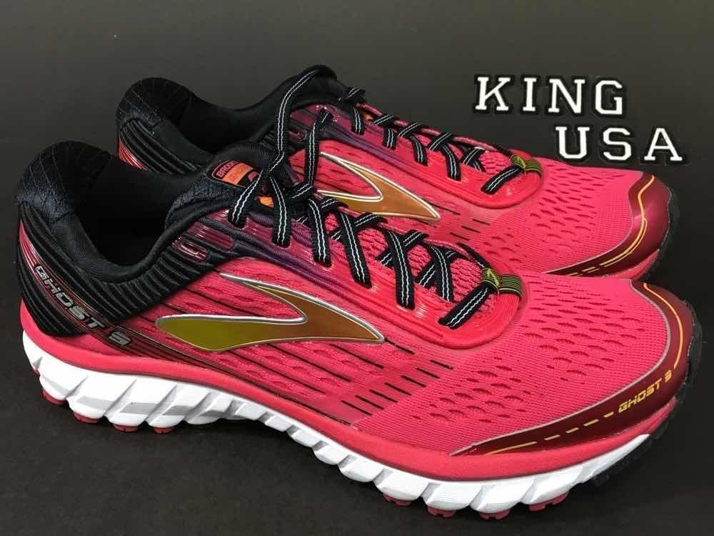 d6f5836e407 Womens Brooks Ghost 9 Athletic Running Training Shoes Azalea Black Cyber  Yellow