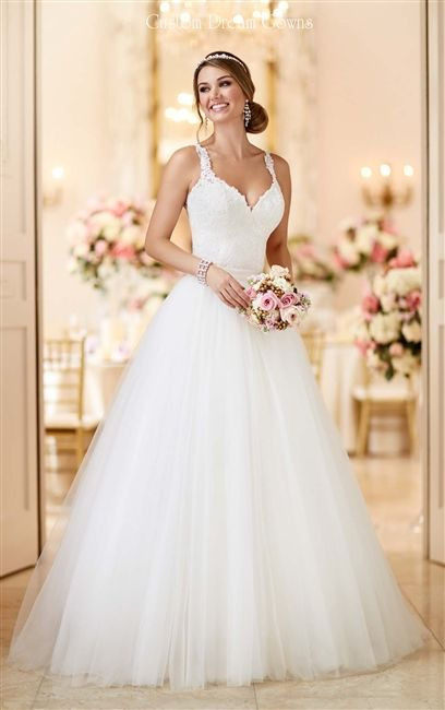 New A Line Wedding Dress Stella York 6223 Two In One Convertible