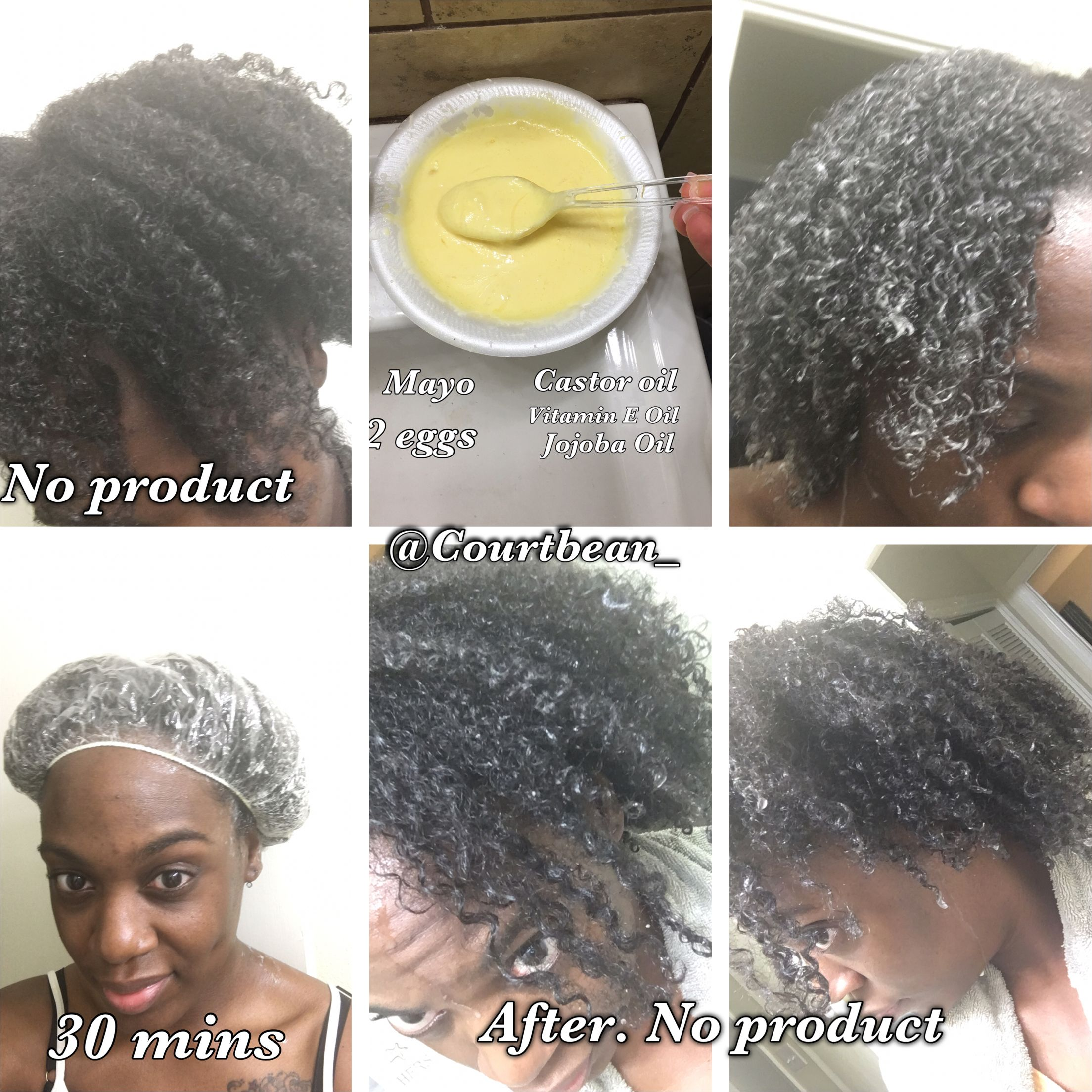 Hair Mask To Re Curl Pattern Mayo Eggs Castor Oil Vitamin E